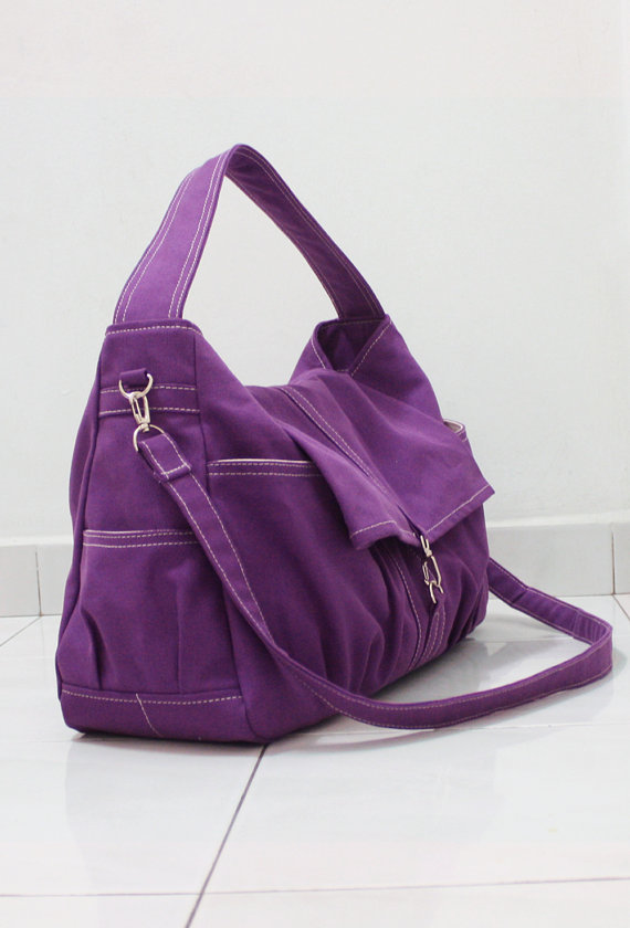 Halloween SALE – 20% OFF Classic in Purple / Messenger / diapers bag / Hobo / Shoulder Bag / Purse / tote / Handbags / women / For her by Kinies