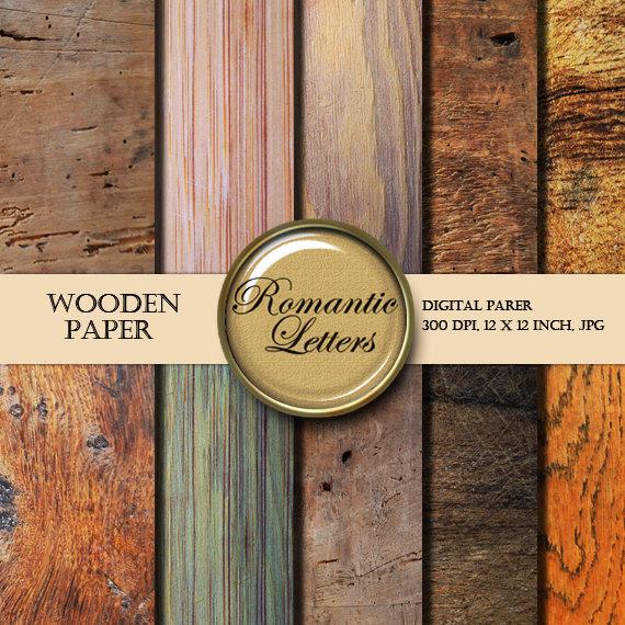 Wood Texture digital paper pack digital Scrapbooking paper background wood texture digital wood textured paper pack digital backdrop wood by RomanticLetters