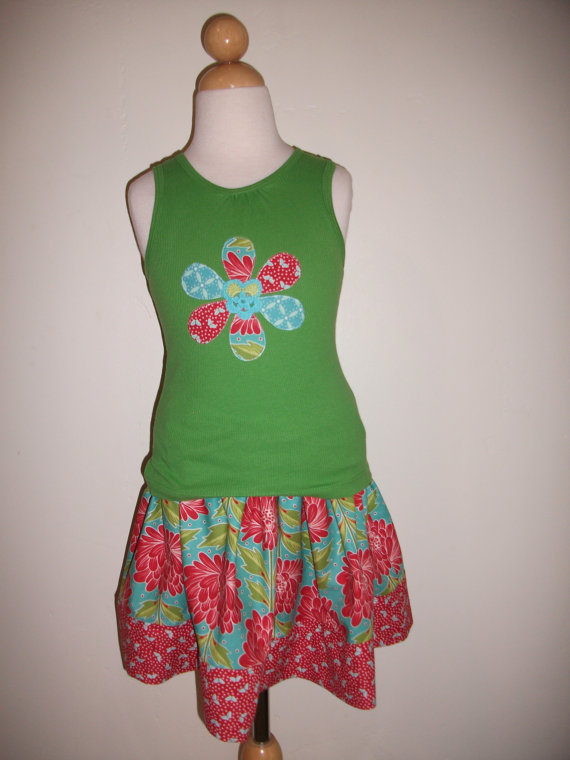 Garden Party for Girls Size 4/5 and 6 / 6X only includes headband by Skiptomylouclothing