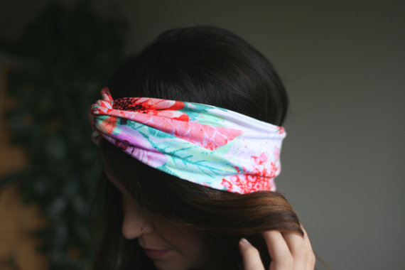 Spring Floral – Turban Style Headband by RaynaJaye