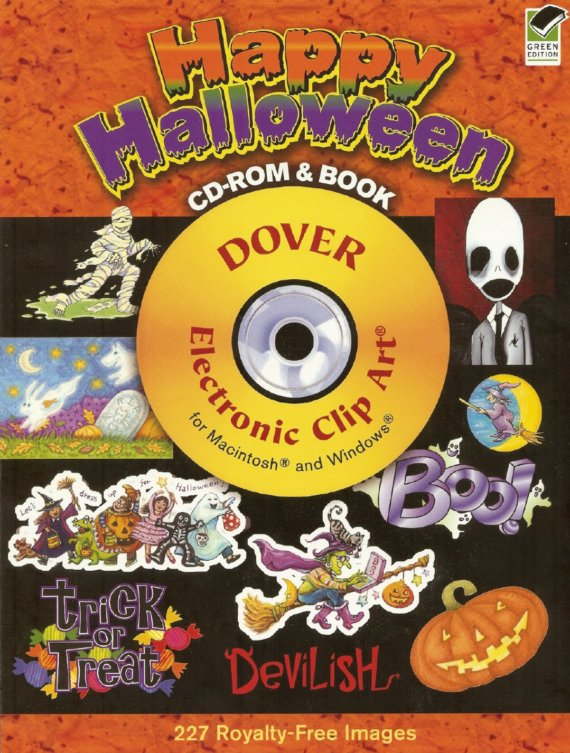 Happy Halloween CD ROM And Book Dover Susan Brack CLIP Art by susanbrack