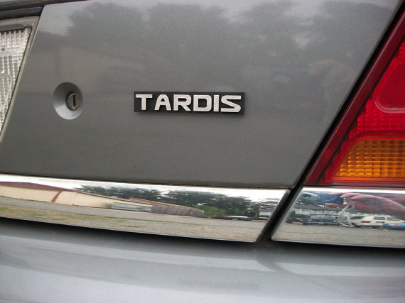 TARDIS Custom Car Emblem by Empira