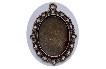 Antique Bronze 25×18 Setting with Loop Item 430x by cameojewelrysupply