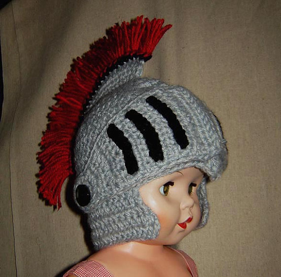 Greek Helmet, Leonidas helmet, Roman helmet, with Faceshield/Visor, 5 Sizes Baby – Adult,INSTANT DOWNLOAD Crochet Pattern by CathyrenDesigns