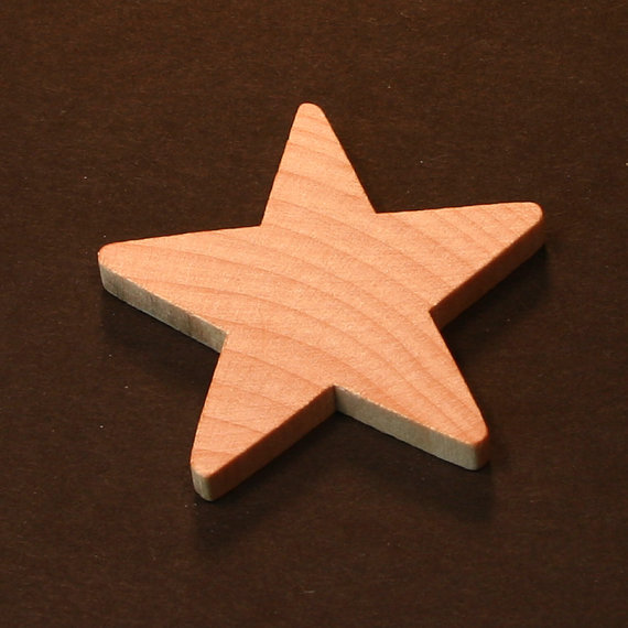50 – Star – 2 inch x 1/8 unfinished wood (CP-C06925) by MyLittleWoodShop2