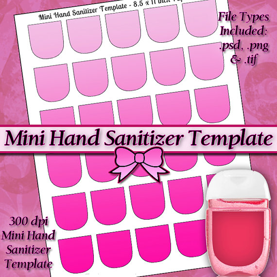 New mini hand sanitizer label digital collage sheet template diy new mini hand sanitizer label digital collage sheet template diy 8511 page with video tutorial instructions instant download by jeweledlizard pronofoot35fo Images