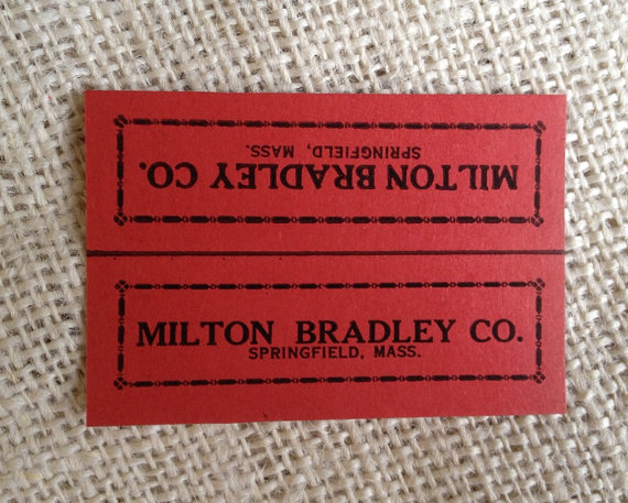 Vintage 1950's Milton Bradley Marble Bag Header Cards by CactusScraps