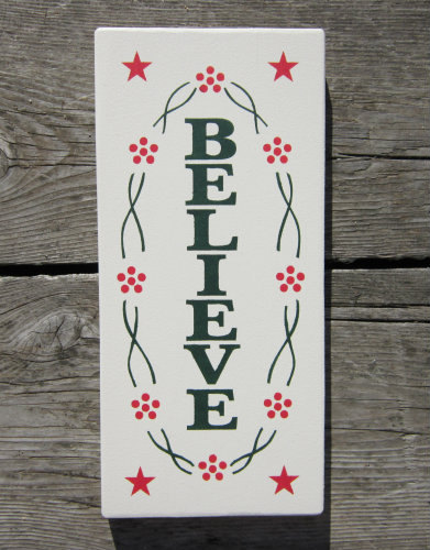 Believe Wood Sign ON SALE by BedlamCountryCrafts