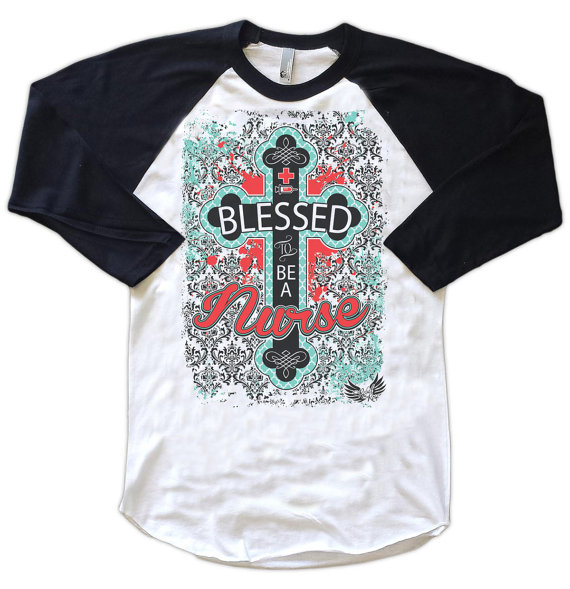 Nurse's Gift, Blessed To Be A Nurse Cute Women's T-Shirt for Nurse by AttitudeGraphics