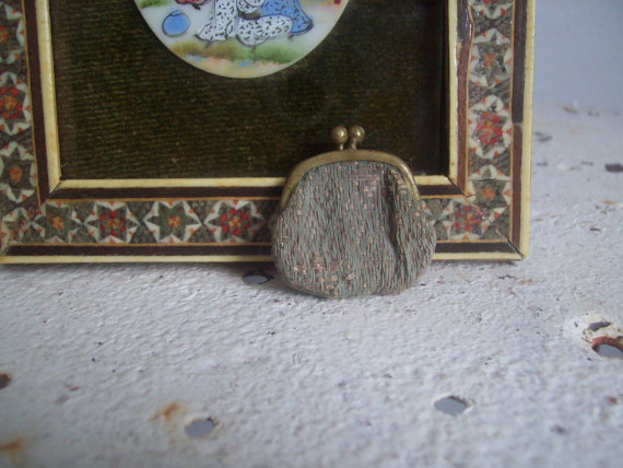 antique miniature purse doll purse free shipping to USA by MattiesMenagerie