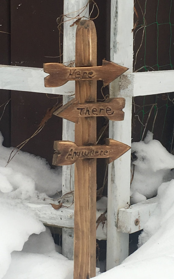 Fairy town direction signs. by NothinButWood