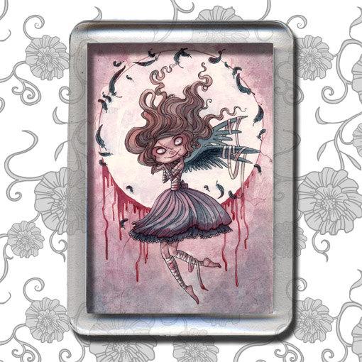 Little Raven Lady – Magnet by moonlightwhispers
