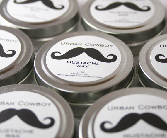 Urban Cowboy Mustache Wax or Beard Wax – Respect the Mustache – Facial Hair Styling Product – Pick Your Scent – Valentine's Gift by SakuraBathAndBody