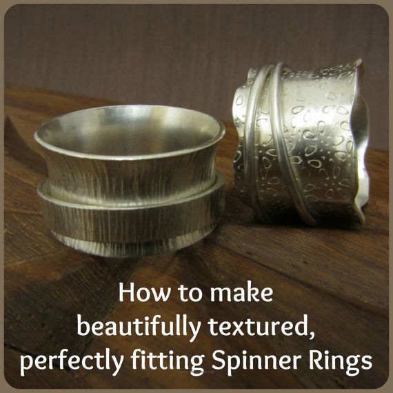 How to make beautifully textured, perfectly fitting Spinner Rings – tutorial ebook by JoanneTinley