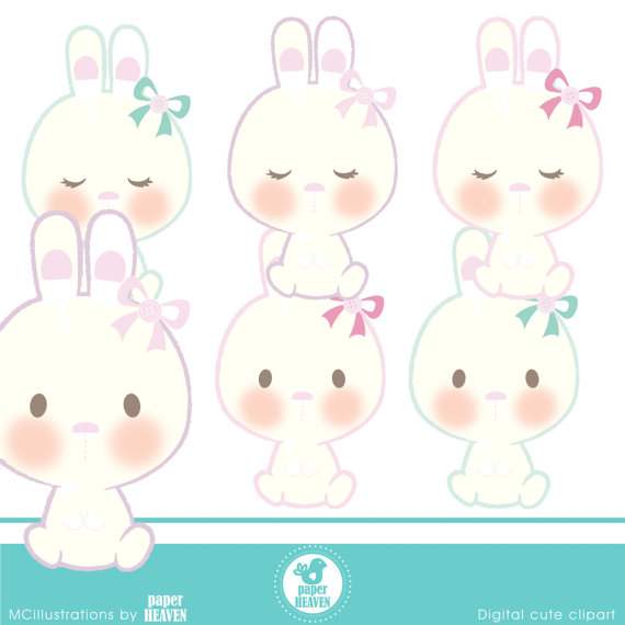 Bunny Bunny Cliparts – COMMERCIAL USE OK by MCIllustrations