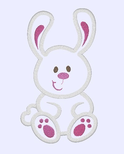 Easter Bunny Machine Embroidery Applique Design by PoshLittleThings