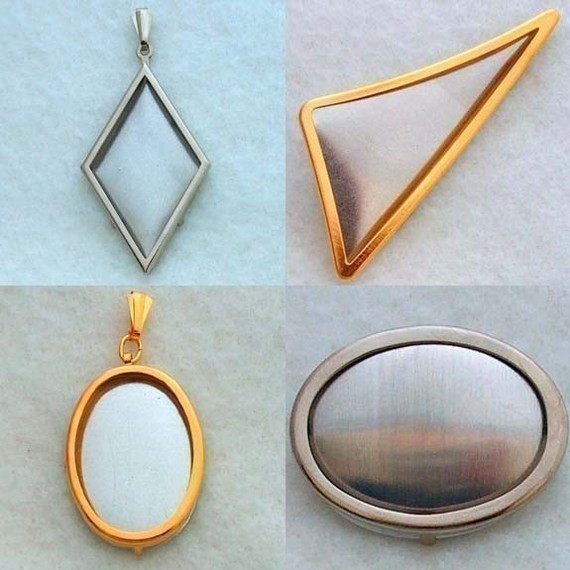 Any 5 Pendant and Pin Settings Frames Special by Kailea