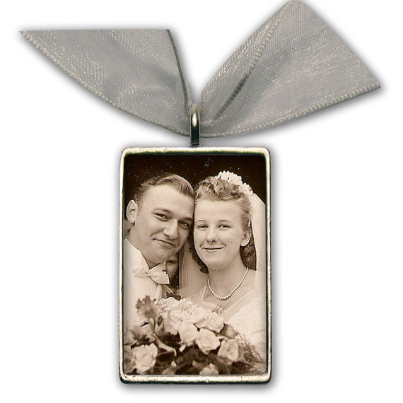Wedding Bouquet Photo Charm Bridal Bouquet Memory Charm Silver Pewter – Rectangle 1 & quot; A 1/4 & quot; x 3/4 & quot; by kathylorockskeepsake