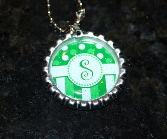 Personalized Bottle Cap Necklace by peridot870