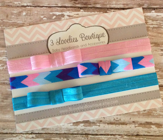 3 Baby Bow Headbands, Baby Headband, Newborn Headband, Headband, Baby Headbands, Baby Girl Headband, Infant Headband by 3LoveliesBowtique