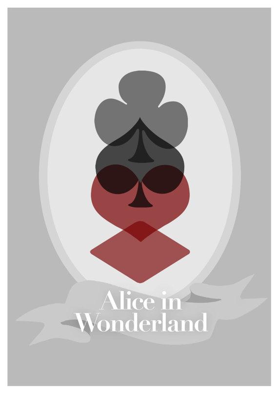 Disney's Alice in Wonderland Minimalist Poster by rowansm