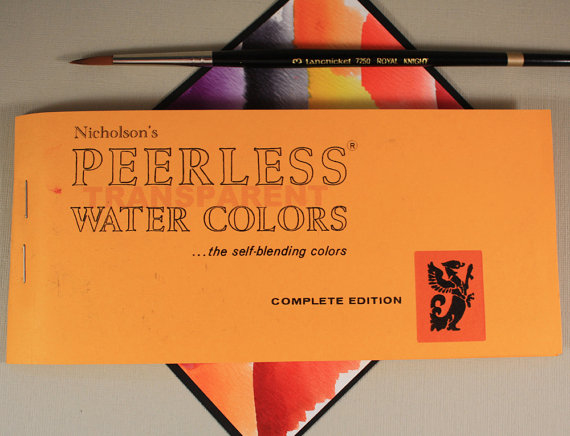 Peerless Watercolors ~ Complete Edition ~ 15 watercolor sheets ~ Full Size Complete Original Water Colors ~ New ~ Transparent Watercolors by MountainsideCrafts