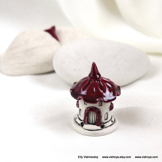Strawberry ruby red spring House of tiny fairies – Hand Made Ceramic Eco-Friendly Home Decor by studio Vishnya by vishnya