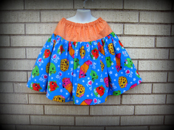 ShopkinsTwirl Skirt, Lippy Lip and Cookie, Sizes 6M to size 8 by MyHeart2