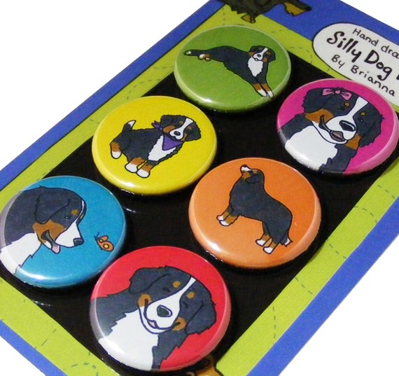 Bernese Mountain Dog Silly Dog Magnet Set by SillyDogMagnets