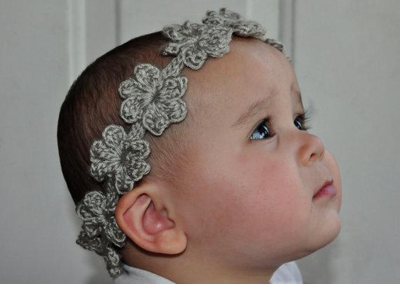 Crochet Pattern PDF – Headband / Bracelet – Flower Garland Headband – Newborn to Adult Sizes by 5PacksCrochet