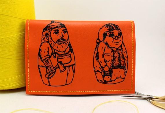 ON SALE – Orange Matryoshka Mini Wallet – We got other colors / sizes by whodinihandmade