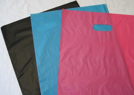 50 12×15 Plastic Bags, Black Bags, Pink Plastic Bags, Blue Bags, Shopping Bags, Retail Merchandise Bags, Favor Bags by JetJewels