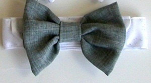Wedding Bow Tie for A Dog or Cat Light Gray by miascloset
