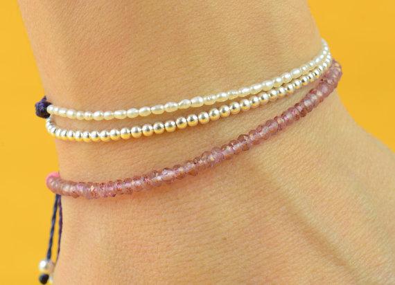 Pink Rose quartz bracelet by Zzaval