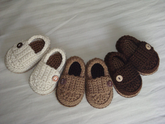 Baby Booties – Crotchet – Made To Order Shoes – Any Color Any Size by asimplebee