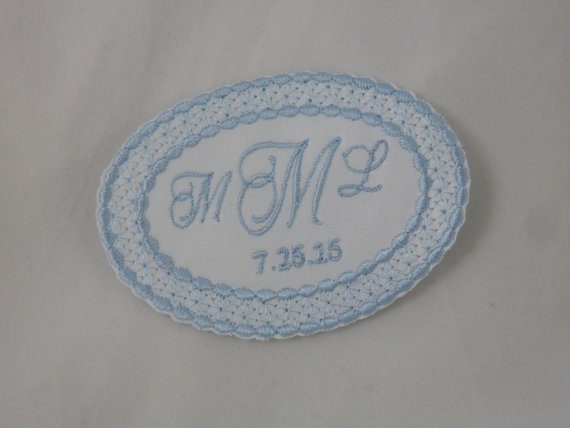 Wedding Dress Label Lace Oval by TimelessEmbroidery