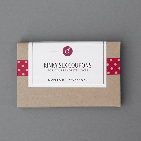 Funny First Paper Anniversary Gift. For Boyfriend, Man, Men, Husband, Him. Sexy, Naughty, Romantic. & Quot; Kinky Sex Coupons & quot; (LCL01) by FlytrapOnE