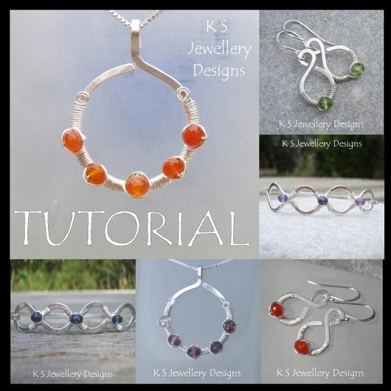 Wire Jewelry Tutorial – COILED JEWELS (3 Projects – Pendant, Earrings and Bangles) – Step by Step Wire Wrapping Wirework – Instant Download by KSJewelleryDesigns