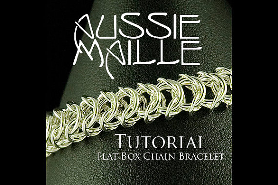 Chainmaille Tutorial – Flat Box Chain Bracelet by AussieMaille