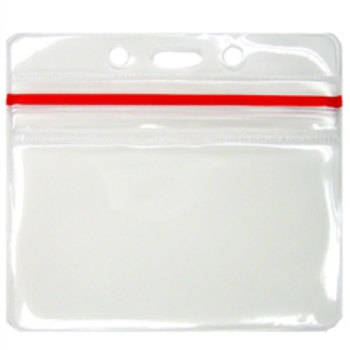 10 Zip Lock ID Badge Holders – Horizontal / Landscape – Ten Pack of Premium Resealable Zipper Top Badges (VBH-H-ZIP-Q-10) by SpecialistID