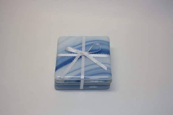 Fused Glass Coasters by GailsGlassGarden