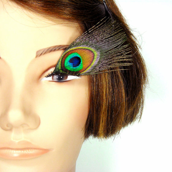 Peacock Feather Eyelashes – Bright Eyes by intrinsicimagination