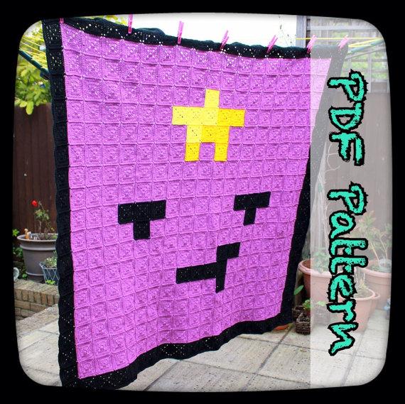 Lumpy Space Princess Crochet Blanket – A PDF Crochet Pattern – Digital Download – Afghan Pattern – 8 Bit – Pixel Art – EssHaych by EssHaych
