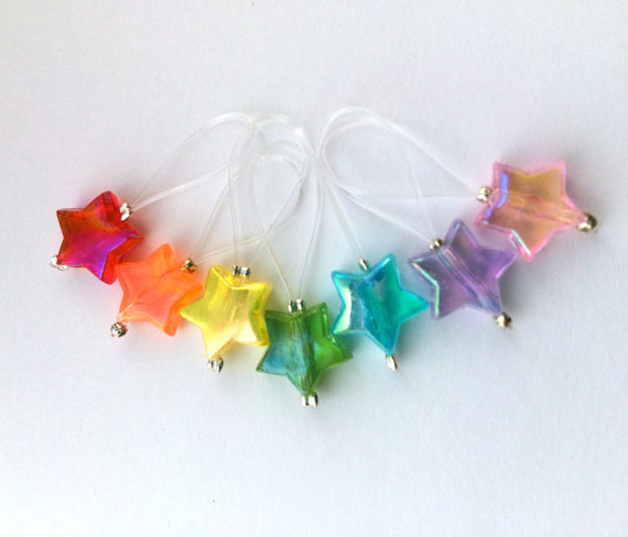 Knitting Stitch Markers snag free – DISCO DARLING by rosyretro