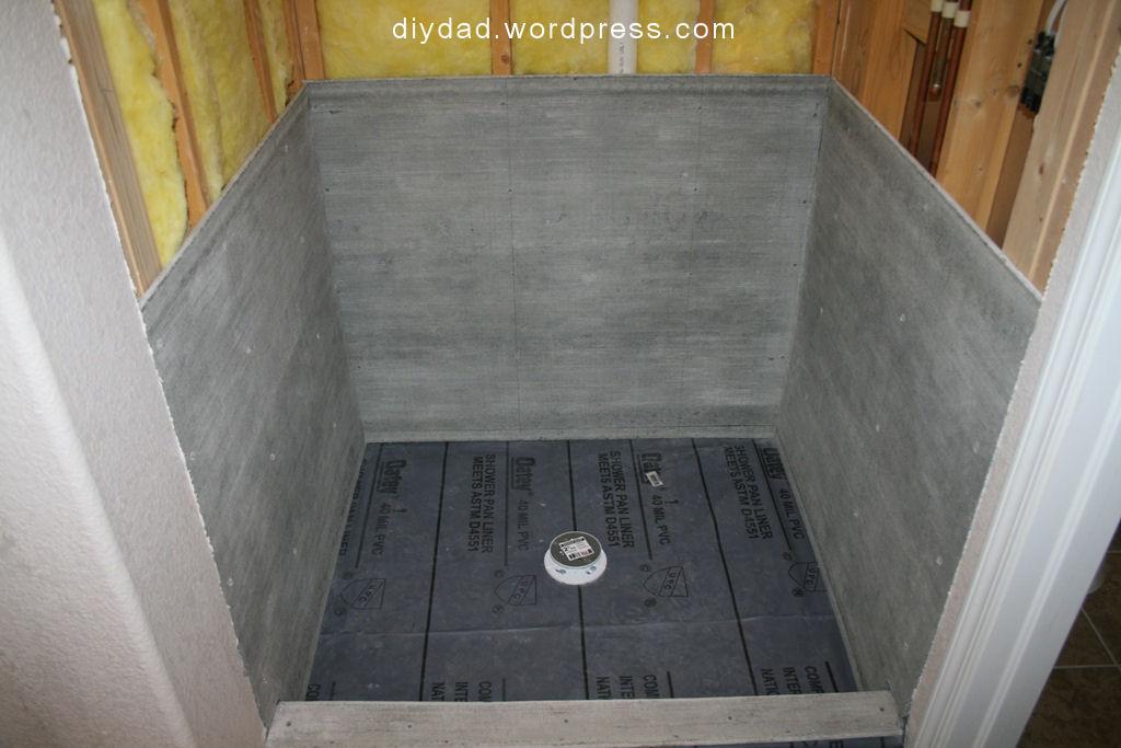 tile shower pan diy dad