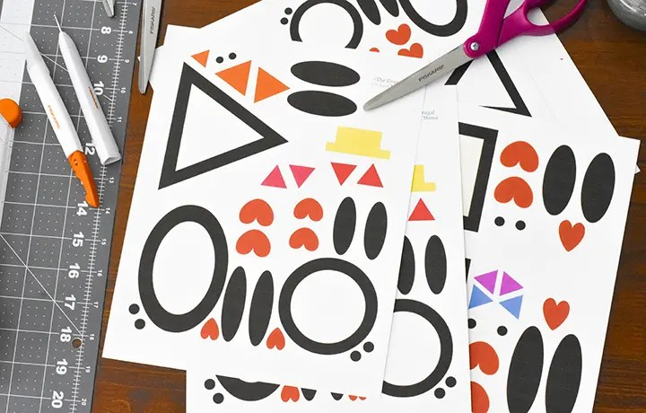 Printable Penguin Craft Shapes