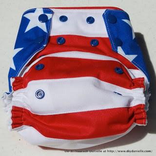 Patriotic Diaper Sewing