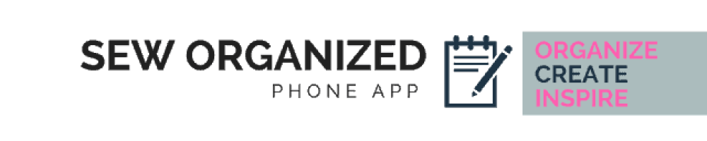 Sewing app called Sew Organized, available for iOS and Android.