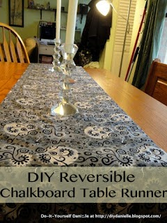 How to make your own chalkboard table runner