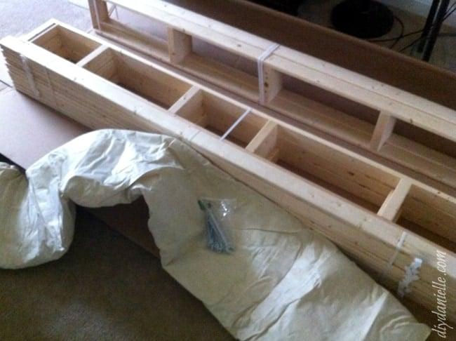 DIY Box Spring Kit Supplies.